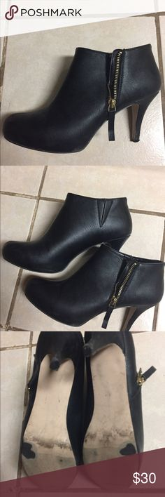 Madden Girl Black Booties Slightly worn. Great condition. Size 10 with a narrow toe. All sales are final. Madden Girl Shoes Ankle Boots & Booties