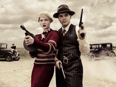 "Bonnie Parker (Holliday Grainger) and Clyde Barrow (Emile Hirsch) in ""Bonnie & Clyde"""