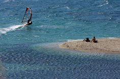 Windsurfing in Evia, Greece Sup Surf, Water Photography, Windsurfing, Big Waves, Big Challenge, Sea World, Greek Islands, Greece, Places To Go
