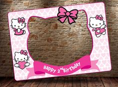 Hello kitty Photo booth prop DIGITAL FILE Hello Kitty by htcknit