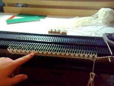 Knitting Machine Weaving Cast On (drawstring cast on)