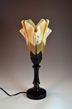 Modern Lily Fused Glass Table Lamp. $400.00, via Etsy.  by Krenzin11