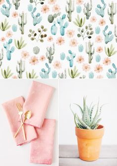 A soft, summery Southwest-inspired color palette - visit The Sweetest Occasion to see 200+ color schemes!