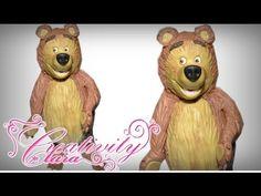 How to make The Bear (Masha) cake topper fondant tutorial masha e orso pasta di…