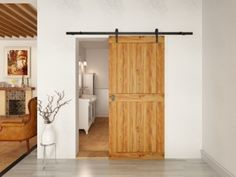 Unique sliding door hardware with beautifully crafted barn style hangers, for doors weighing up to 80kg.  Rustic 80 sliding hardware is ideal for barn conversions, period properties or simply for a unique feature in the home.