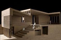 Màu gỗ làm mô hình kiến trúc