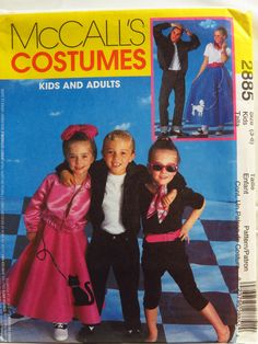 McCall's 2885 Adults' and Kids' 50's Costumes