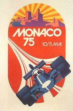 Gorgeous vintage poster - this is where I got some of the inspiration for my F1 prints :) Grand Prix