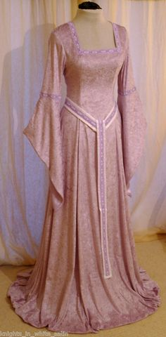 celtic medieval dresses | Medieval handfasting Celtic dress Elven Renaissance hobbit CUSTOM made