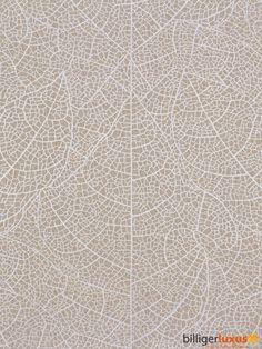 Tapete Rasch Tendresse 2015 Vliestapete 799804 Streifen Blätter beige silber