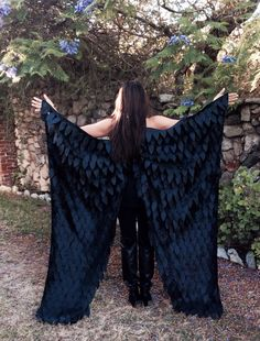 Maleficent Costume Wings Floor Length Adult Costume by flyingkiss, $95.00