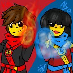 Ninjago - Kai and Nya by FatmahAlajmi-Draws.deviantart.com on @DeviantArt