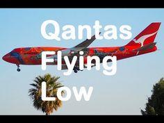 Qantas flying low over suburbs Perth Western Australia