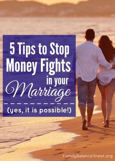 Tips to stop fighting about money in your marriage. YES, it is possible! The tension is so stressful, but #5 stopped our money arguments almost immediately. These 5 tips are completely doable and not complicated.