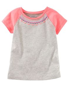 Toddler Girl Embellished Raglan Tee from OshKosh B'gosh. Shop clothing & accessories from a trusted name in kids, toddlers, and baby clothes.