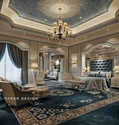 """Luxusschlafzimmer """"Dubai"""" in Behance - Hauptschlafzimmer Luxury Bedroom Design, Master Bedroom Design, Luxury Home Decor, Luxury Interior, Modern Bedroom, Home Interior Design, Luxury Homes, Bedroom Decor, Luxury Master Bedroom"""