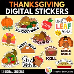 Reward and motivate your students with these Thanksgiving and fall themed digital stickers with positive praise phrases. Digital stickers for distance learning are easy to use and great for rewarding students for completing their work! Simply copy/paste/insert the stickers into their digital work in...