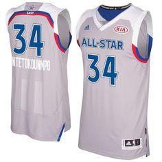 Giannis Antetokounmpo adidas 2017 NBA All-Star Game East Swingman Jersey -  Gray  MilwaukeeBucks 275e6e42b