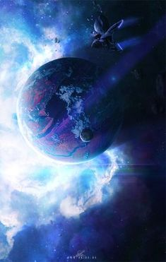 Cyanide by ErikShoemaker Digital Art / Drawings & Paintings / Space Art ErikShoemaker Planets Wallpaper, Galaxy Wallpaper, Space Fantasy, Fantasy Art, Arte Digital Fantasy, Digital Foto, Space Artwork, The Ancient Magus, Futuristic Art