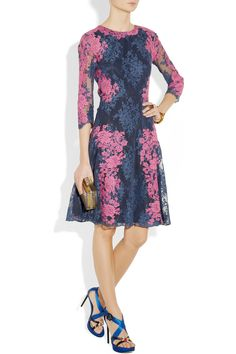 Obsessed with ERDEM - Erdem | Lily embroidered cotton-blend lace dress | NET-A-PORTER.COM