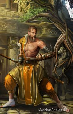 Dungeons And Dragons Characters, D D Characters, Fantasy Characters, Pathfinder Monk, Pathfinder Character, Fantasy Warrior, Fantasy Rpg, Fantasy Weapons, Dnd 5e Monk