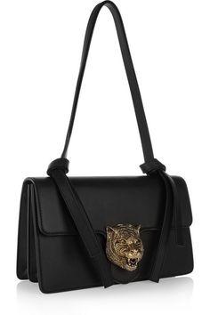 Gucci | Linea G1 embellished leather shoulder bag | NET-A-PORTER.COM