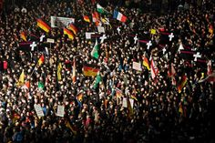 """German police banned a planned Anti-Islam Rally by PEGIDA movement and other public open-air gatherings in Dresden, citing """"Terror Threat."""" Times of Israel Jan. 18, 2015."""