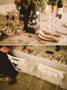 Bride & Groom chair bunting … Budget wedding ideas for brides, grooms, parents & planners ... https://itunes.apple.com/us/app/the-gold-wedding-planner/id498112599?ls=1=8 ♥ The Gold Wedding Planner iPhone App ♥