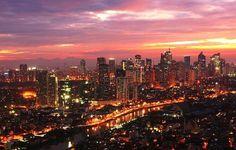 The Philippines - Metro Manila by night.