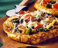 Italian Vegetable Pizzas Recipe