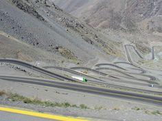 """Caracoles"" - 28 curvas - Cordilheira dos Andes - Chile - Argentina"