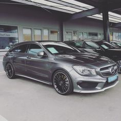 #NeverLateisBetter  drivingbenzes:  Mercedes-Benz CLA 45 AMG Shooting Brake (Instagram @senci_ic)  If you like it share it.