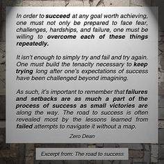 Excerpt from: The road to success  #zerosophy