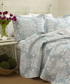 Look what I found on #zulily! Blue Rowland Quilt Set by Laura Ashley Home #zulilyfinds