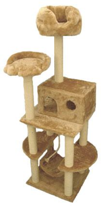 Kitty Cat Tower with Cat Hammock