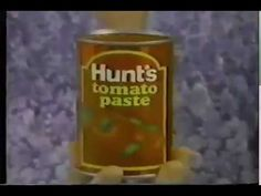 A very neat 1981 ad for Hunt's Tomato Paste Tomato Paste, Salsa, Commercial, Jar, Food, Essen, Salsa Music, Meals, Yemek