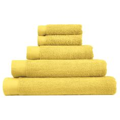 Yellow Hand Towels, Flat Ideas, Spring Trends, Mellow Yellow, Bath Time, Bath Towels, Home And Garden, Cotton, Asda