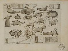 """M. Giegher, <em>Animali piegati con """"spina pesce""""</em> (in Trattato delle piegature,  1629, tav. 5)"""