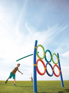 Pool Noodle Olympic Games! How cool is that