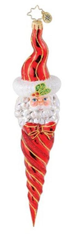 $45.99  10.13.15 - RADKO RUBY TWIST CLAUS Santa Nick Ice cicle ornament NEW