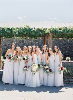 Vineyard style wedding bridesmaid dresses: http://www.stylemepretty.com/2016/05/03/wine-country-wedding-with-a-modern-design-twist/ | Photography: O'Malley Photographers - http://omalleyphotographers.com/