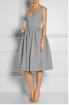 Grey Bardot Dress
