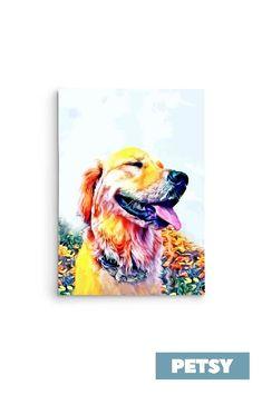 Custom Pet Art by Petsy Custom Dog Portraits, Pet Portraits, Gifts For Pet Lovers, Pet Gifts, Dog Artwork, Artists, Detail, Pets, Canvas