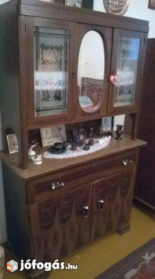 Antik tálalószekrény (etazsér) Liquor Cabinet, Bathroom, Storage, Furniture, Home Decor, Washroom, Purse Storage, Decoration Home, Room Decor