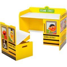 Sesame street Desk and storage