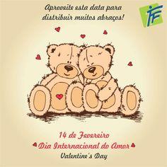 14 de Fevereiro é o Dia Internacional do Amor <3  Você já distribuiu abraços hoje? :D