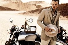 I like motorcycles and I like straw hats, but I'm not sure I'd do both at the same time.