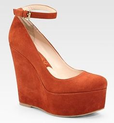 What is it about wedges with ankle straps? J'adore