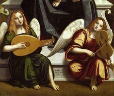 1470 – 1549 Marco d'Oggiono, Crespi-Triptychon, Musician Angels