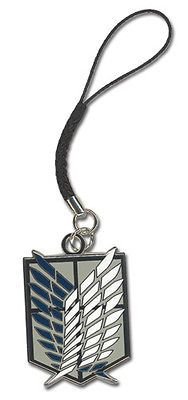 Attack On Titan Scouting Legion Emblem Cell Phone Charm. Official Attack on Titan cell phone charm. Size approximately W x H. New Attack On Titan, Anime Toys, Anime Figurines, Samsung Galaxy S5, Cell Phone Accessories, Charmed, Scouting, Ebay, Online Phone